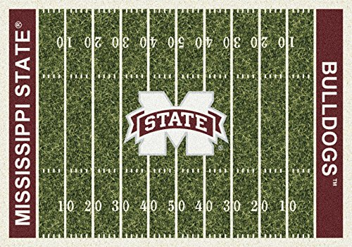 Milliken 4000054641 Mississippi State College Home Field Area Rug, 3'10