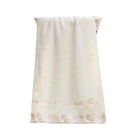 Paquete de 3 algodón encaje bordado toalla de baño Set