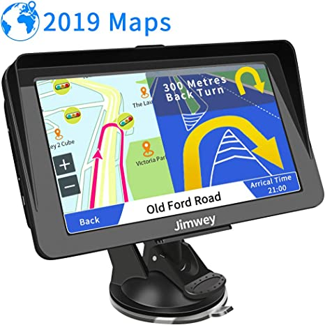 UK /& Full Europe with Lifetime Free Update with Post Code Search Speed Camera Alert Jimwey 7 Inch 16GB Latest 2019 Maps Car Truck Lorry GPS Navigation System SAT NAV Satellite Navigator Device