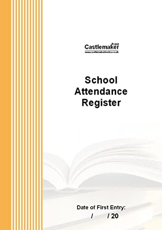 School Attendance Register (A4) S028: Amazon.co.uk: Office Products