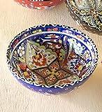 Handcrafted Turkish Salad Bowl, Blue