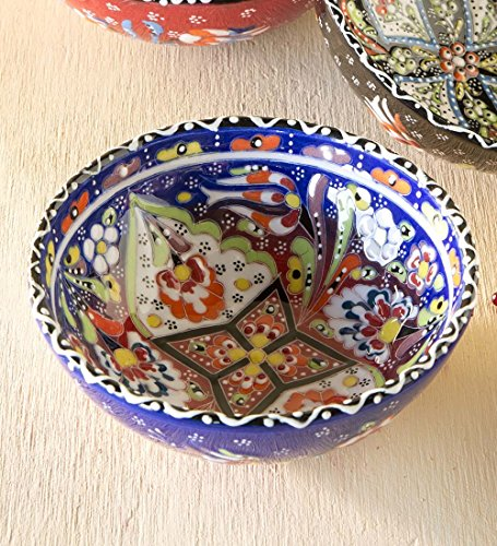 Wind & Weather AC5434-NY Handcrafted Turkish Salad Bowl, Blue, 6
