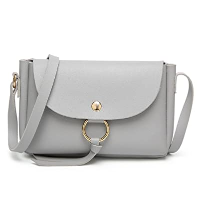 9983f9f2ee KEEARADS Women Crossbody Shoulder Messenger Leather Bag Ladies Mini Small  Handbag Phone Bag (Gray)  Amazon.co.uk  Shoes   Bags