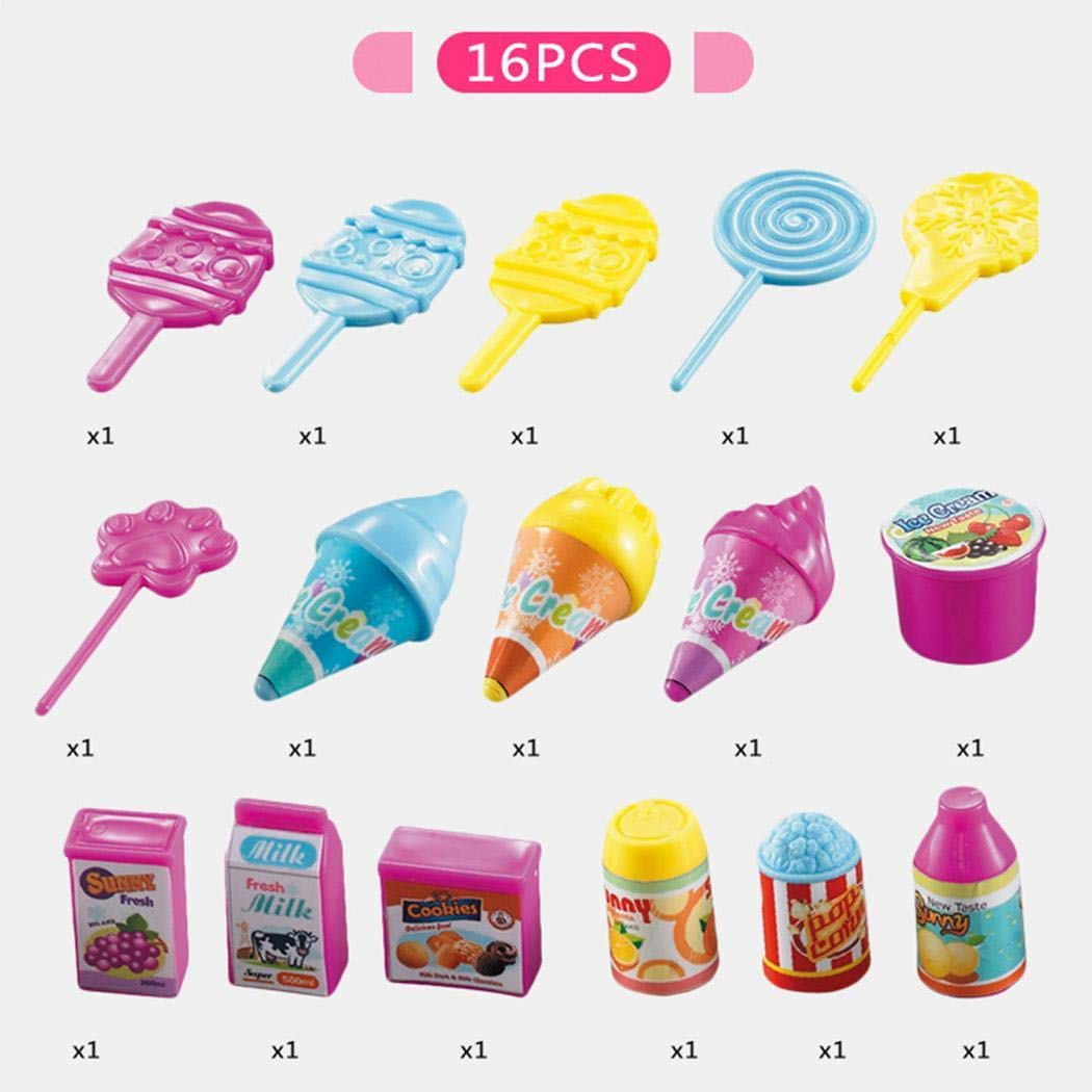 Zouvo 19Pcs Kids Rotating Ice Cream Candy Pretend Play Food Supermarket Trolley Toys by Zouvo (Image #2)