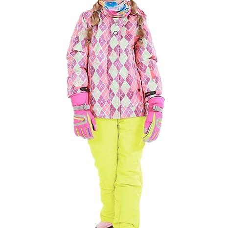 Traje de nieve de esquí cálido para niños Chaqueta de esquí ...