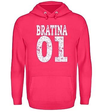 Hip Hop Bratina 01 Rap Schwester Russisch Brate Bratan Geschenk - Unisex Kapuzenpullover Hoodie