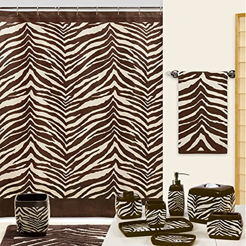 zebra fabric shower curtain - 9