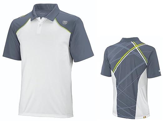 WILSON - Camiseta de pádel para hombre, tamaño M, color blanco / gris / lime: Amazon.es: Ropa y accesorios