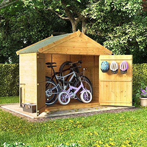 4 x 6 la lengua y Groove de madera Apex bicicleta almacenamiento ...
