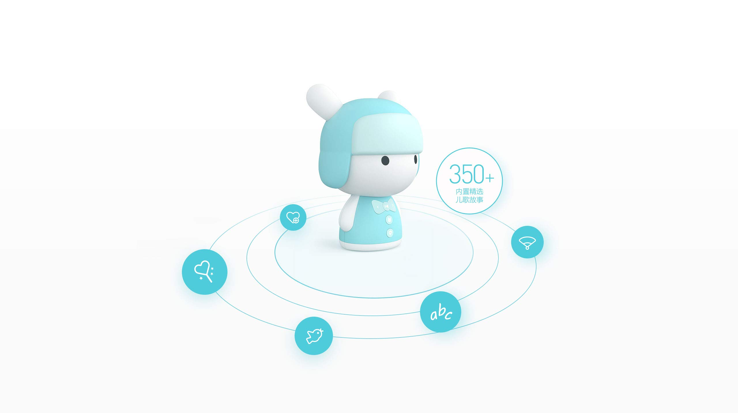 MITU Smart Bunny Mini Version - Story Robot and Song/Poem Player - Chinese/English Learning Toy - Educational Machine for Babies, Toddlers, and Kids - Baby, Toddler Birthday Gift-米兔 (Baby Blue) by I/M (Image #2)
