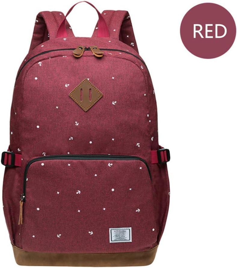 HFY Mujer Mochila, Escolar Mochila para portátil Multiusos Daypacks 14 Pulgadas, para Negocio,Viaje,Escuela,Hombre Mujer Trabajo Diario (Red-1)