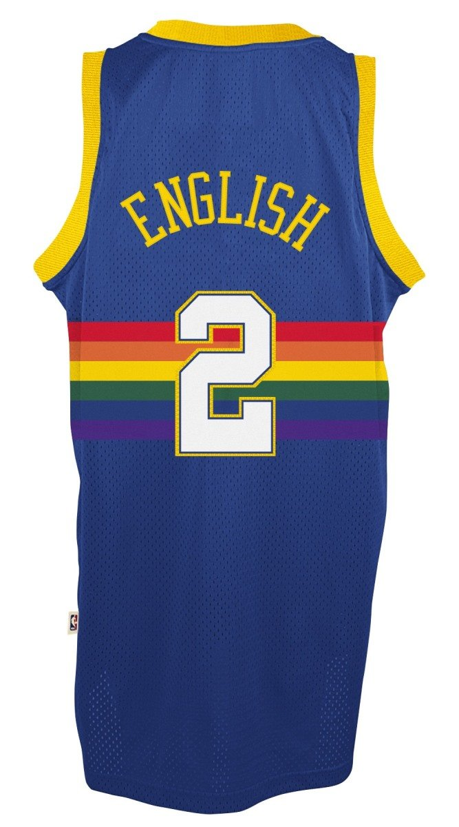 08613783479d Alex English Denver Nuggets Adidas NBA Throwback Swingman Jersey - Blue   Amazon.co.uk  Sports   Outdoors