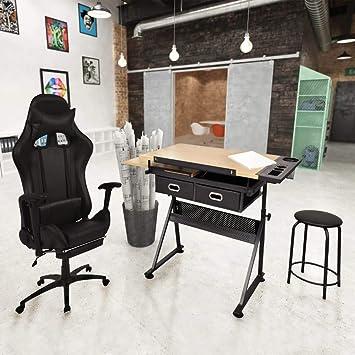 vidaXL - Mesa de Escritorio con Silla de Oficina: Amazon.es: Juguetes y juegos