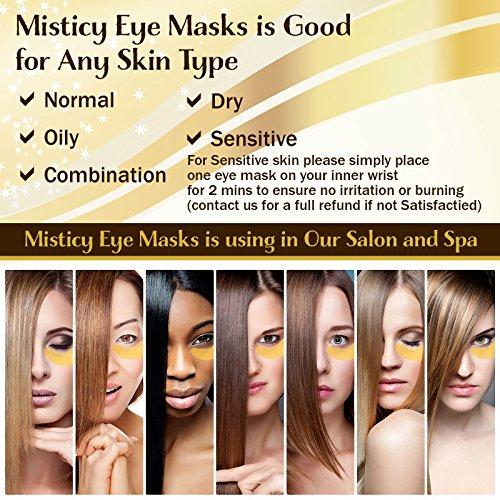 24k Gold Mask with Eye Massage Stick - Under Eyes Mask For Dark Circles -  Anti-aging Hyaluronic Acid Eye Patches for Moisturizing, Anti Wrinkle,