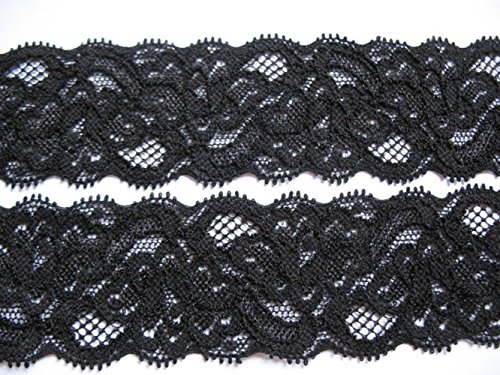 YYCRAFT Pack Of 10y Great Quality Stretch Elastic Lace 1.5