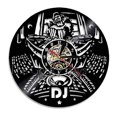 AGlitw Refrán Divertido Mantener la Calma Soy DJ Wall Art Reloj de ...