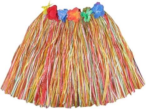 LUNA VOW Disfraces Vestido Tejido De Hula a Falda Hawaiana ...