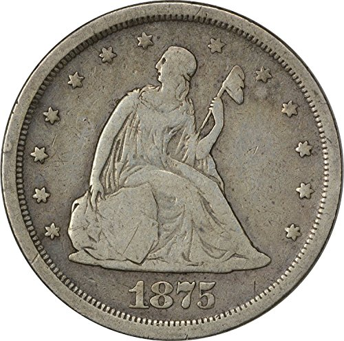 1875 S Twenty Cent Piece VG