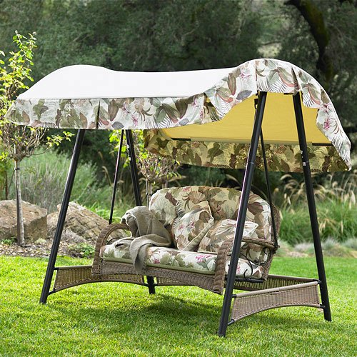 Garden Winds Palm Valley Swing Replacement Canopy