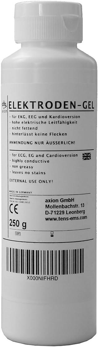 Gel de contacto conductor para electrodos - Electroestimulador TENS EMS - axion