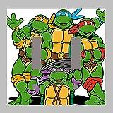 ninja turtle light cover - TEENAGE MUTANT NINJA TURTLES TMNT- DOUBLE Light Switch Plate / Cover