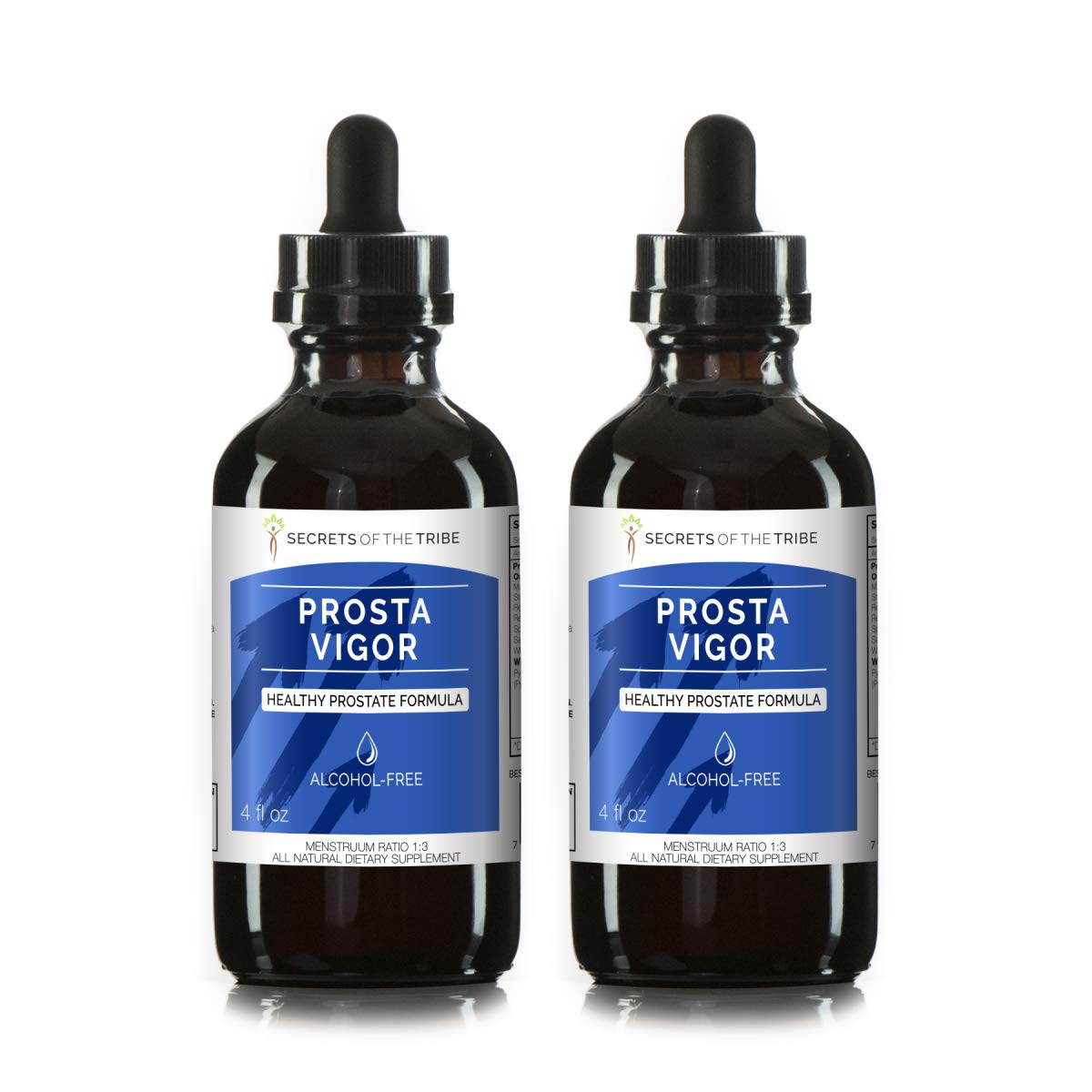 Prosta Vigor Alcohol-Free, Glycerite Pygeum, Maca, Stinging Nettle, Reishi Mushroom, Red Clover, Spearmint, Saw Palmetto, White Peony. Tincture Herbal Extract Healthy Prostate Formula 2×4 OZ