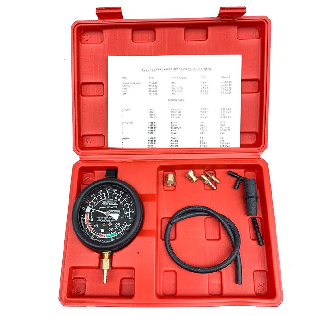 Ama-store Fuel Pump & Vacuum Tester Leak Carburetor Valve Pressure Tester Gauge Kit Car Truck