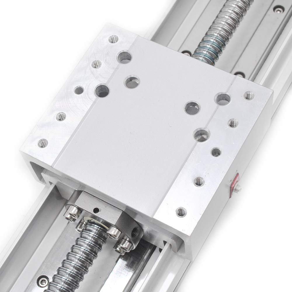 CNC Linear Rail Guide Ball Screw SFU1605 Enclosed Structure Nema23 Motor Slide Stage for Z Axis CNC Router Controller 200mm