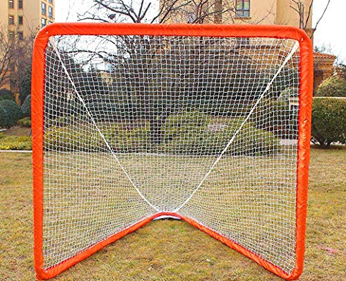 Hubble Lacrosse Goal Net for Backyard Shooting Training Portable 6FT(L) X6FT(W) X7FT(D)(Tube Style)