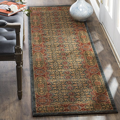 Rug Mahal Runner - Safavieh Mahal Collection MAH623K Traditional Oriental Light Blue and Red Runner (2' 2