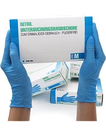 Guantes Desechables de Nitrilo 100 Unidades Caja Talla (M, Azul) Guantes de examen