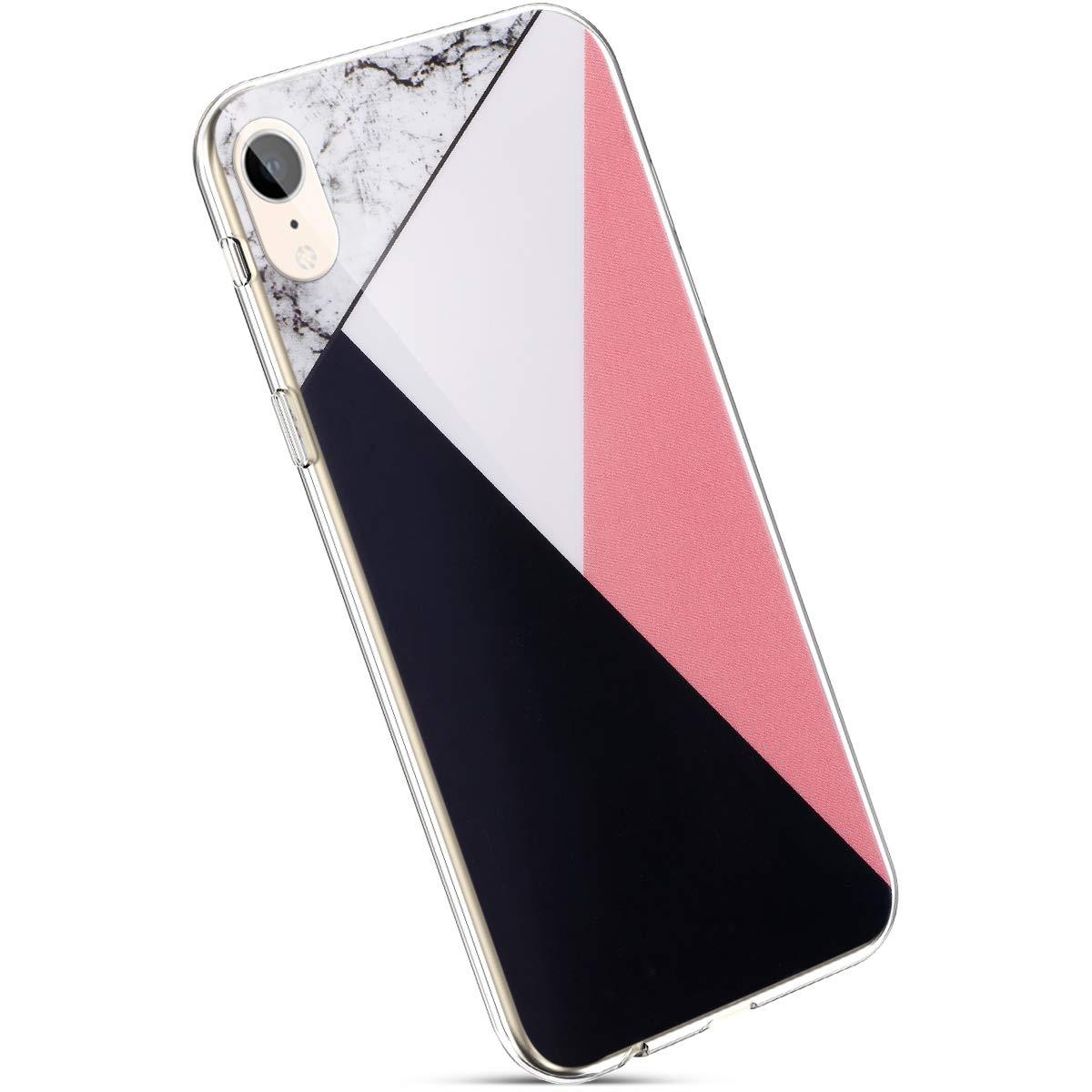 Ysimee Coque iPhone XR, Ultra Mince Silicone Housse Etui de Protection pour Apple iPhone XR 6.1' avec Motifs Marbre Phrase Imprimé Semi Hybrid Crystal Clear Souple Téléphone Couverture,Loss Girl
