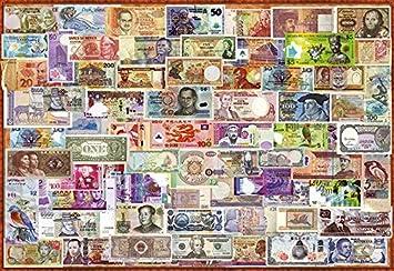 Educa Borras - Genuine Puzzles, Puzzle 1.000 piezas, Billetes del mundo (17659): Amazon.es: Juguetes y juegos