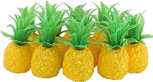 12 Pcs Artificial Mini Pineapple Decoration Plastic Lifelike Fruit Display for Home Party Supplies Desktop Ornament