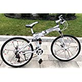 26-inch Foldable Aluminum Alloy Frame Road Bycicle Mountain Bike Magnesium Alloy Integrated 10 Spoke Wheels 21 Speeds