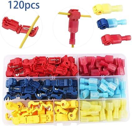 50 Abzweigverbinder Kabelverbinder Schnellverbinder Stromdiebe set rot blau gelb