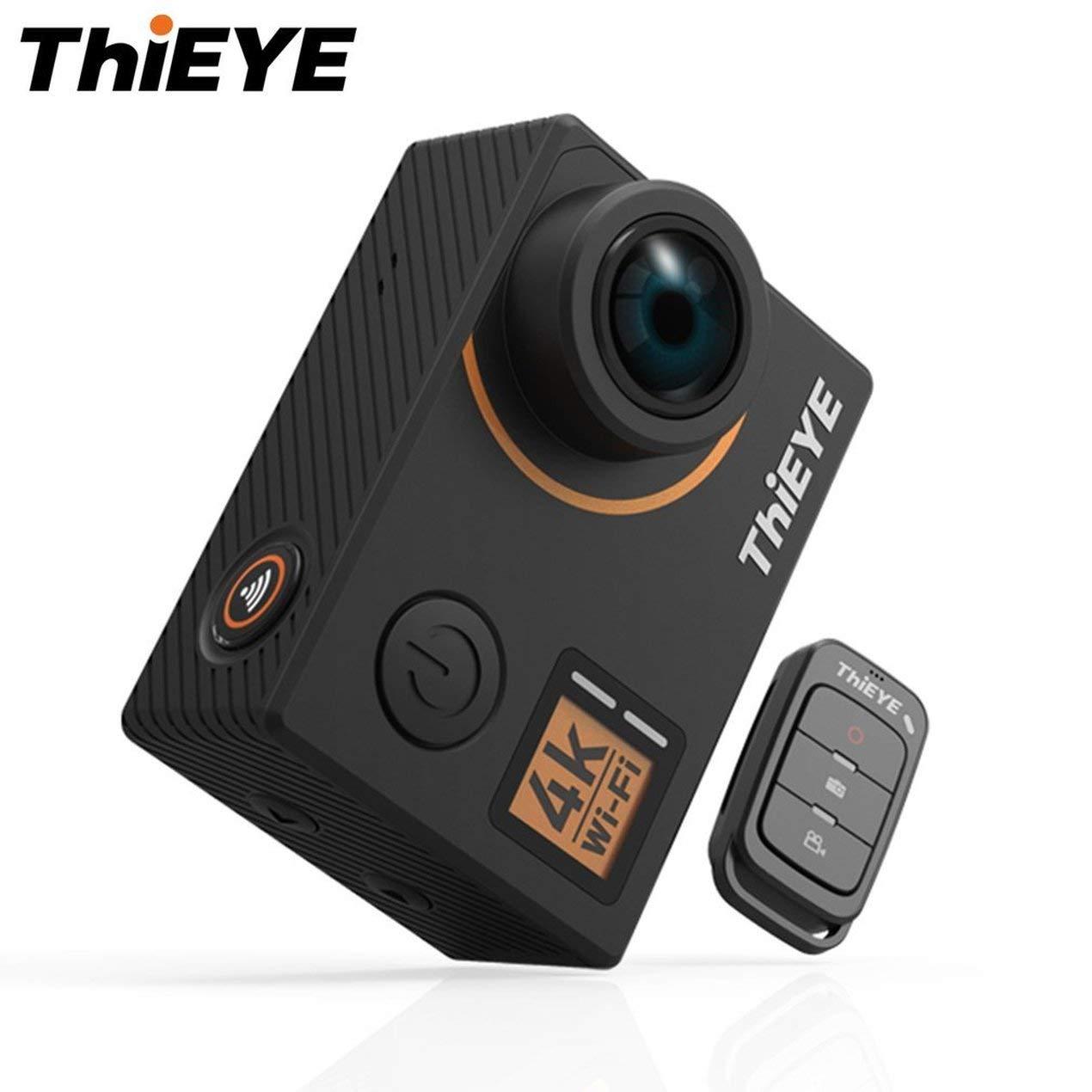 """Dooret ThiEYE T5 Edge 4K-WiFi-Action-Kamera 170 ° Weitwinkelobjektiv 2""""LCD Cam 1080P HD Sportkamera Unterstützung Sprachfernbedienung"""