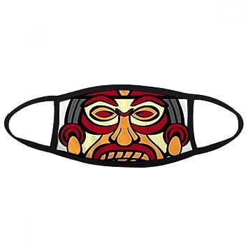 Indio Abstracto Arte Dibujo Totem Pole cara máscara antipolvo anti frío máscara regalo: Amazon.es: Deportes y aire libre