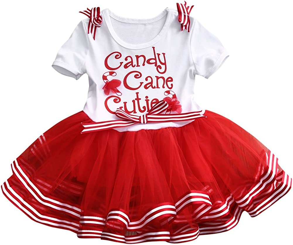 Infant /& Toddler Girls Rufled Red Plaid Tulle Christmas Holiday Tutu Skirt