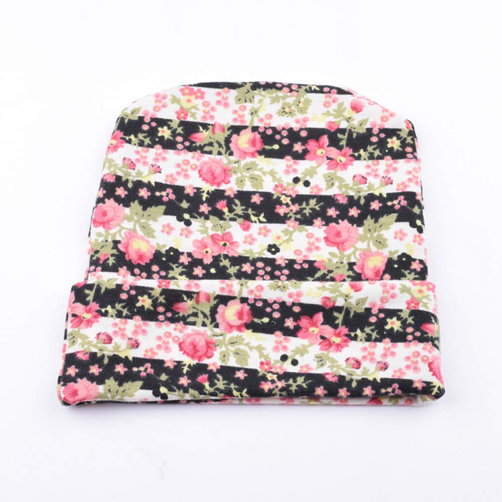 Toaimy Caps 2018 Newborn Floral Print Cap Baby with Flower Hats Headwear