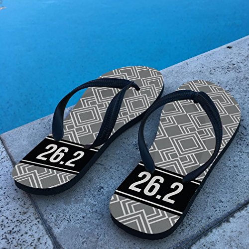 Running Flip Flops Diamond Pattern With Ribbon 26.2 Gray 14DUso