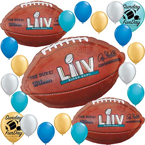 Super Bowl Party Supplies Giant Balloon Decoration for Year 2020 Miami Themed Bundle