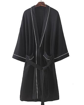 3a0798f1a4 Cahayi Soft Women Men Bathrobe Lightweight Cotton Unisex Hotel Spa Robe  Kimono