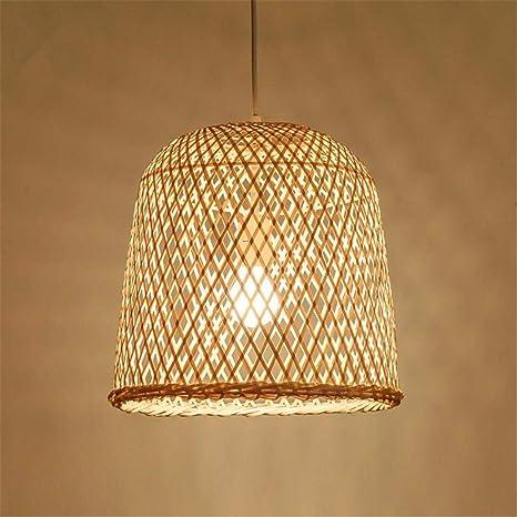 Iluminación Luz De Techo Lámpara Colgante 31X30 Cm Bambú De ...