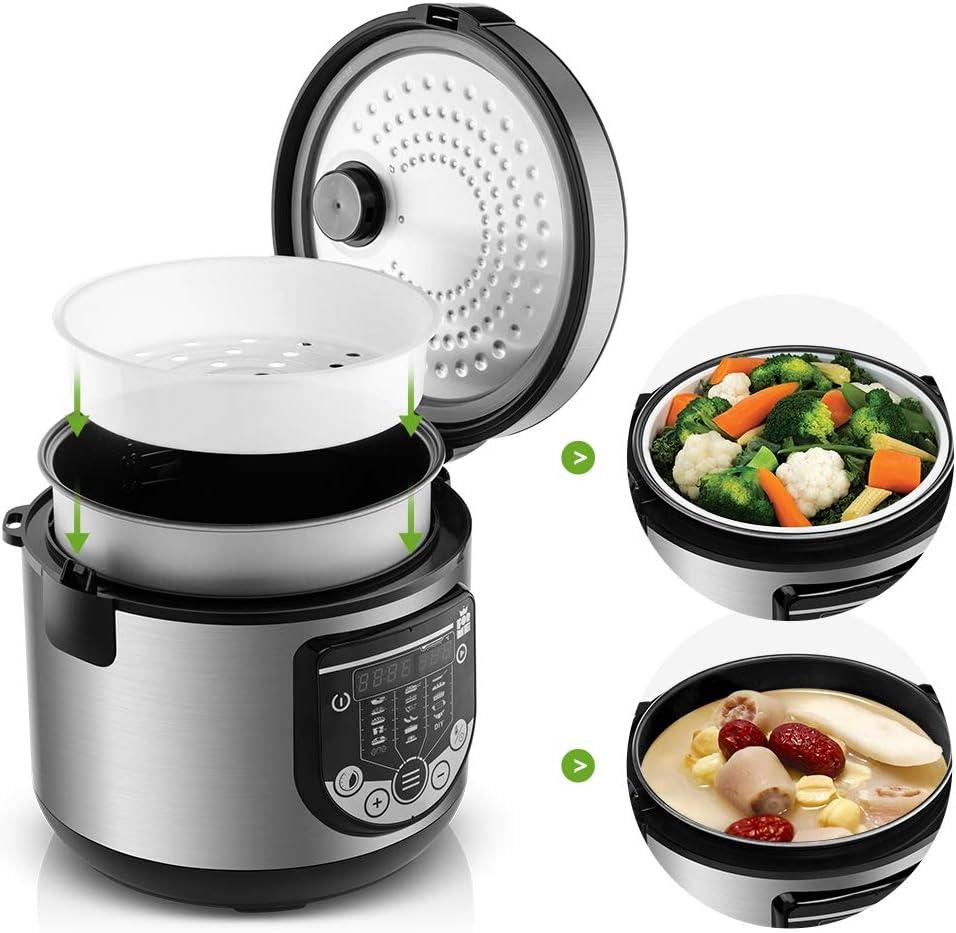 Forme Robot de Cocina Multifunción Capacidad 5 litros Programable hasta 24h Cocina Automáticamente 17 Menús Preconfigurados y Función Mantener Caliente hasta 24h I Incluye Cubeta Antiadherente: Amazon.es: Hogar