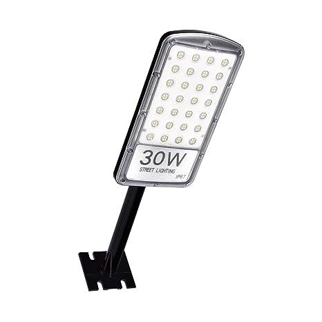 Farola 30W 50W 80W, iluminación en mástiles LED Calle Luz Seguridad Aire libre Sensor de