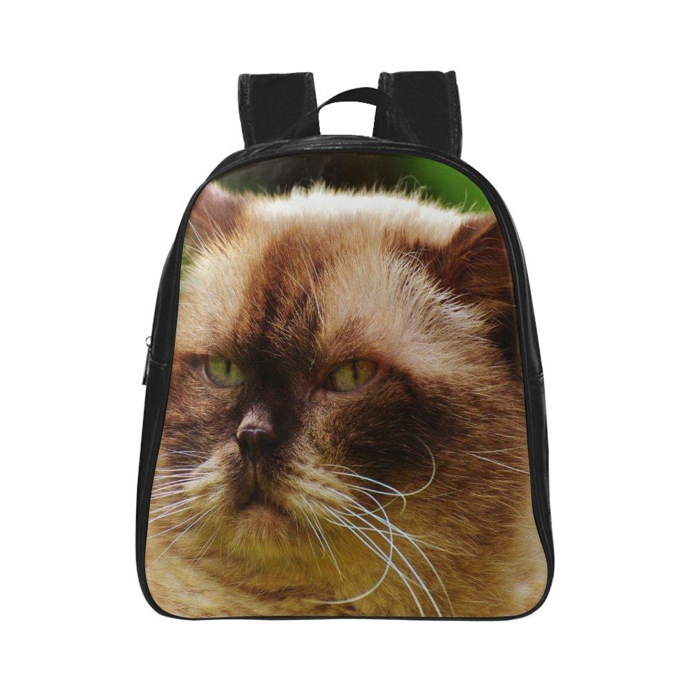 kitchor personalizado estudiante mochila ronda gato Teen Boys School Bolsas Mochilas (Medium) (negro): Amazon.es: Electrónica