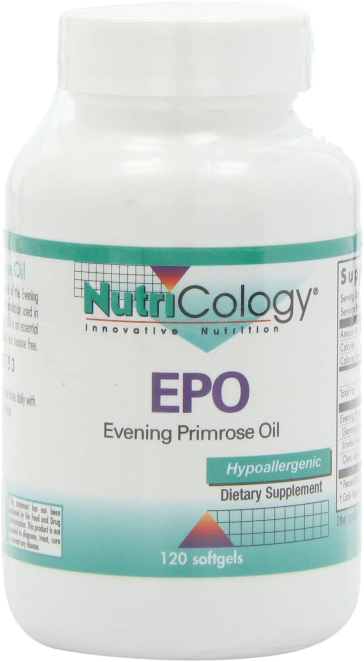 Nutricology Epo Evening Primerose Oil, Softgels, 120-Count