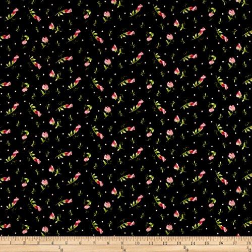 Maywood Studio Flannel Sweet Pea Buds Fabric by the Yard, (Flannel Maywood Studios)