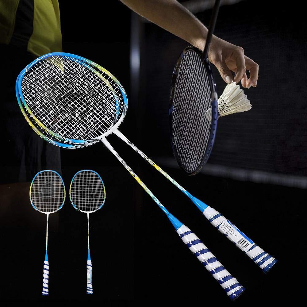 Alomejor 1 Paar Badmintonschl/äger Set Training Badmintonschl/äger mit Tasche und Leichtem Design f/ür Badminton Liebhaber